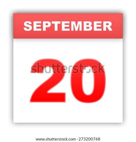 September 20. Day on the calendar. 3d - stock photo
