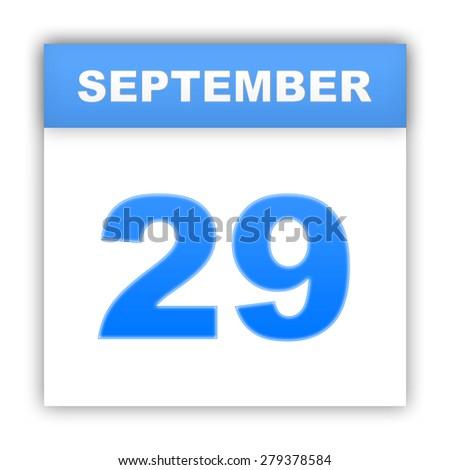 September 29. Day on the calendar. 3d - stock photo