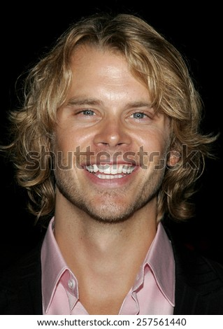 """September 13, 2006. Eric Christian Olsen attends the Los Angeles Premiere of """"The Last Kiss"""" held at the Directors Guild of America in Hollywood, California United States.  - stock photo"""