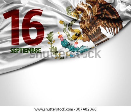 September, 16 Independence of Mexico - stock photo