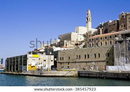 September 26, 2012 .Jaffa.Views of the port and the old city of Jaffa. Tel Aviv . Israel.