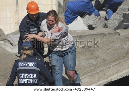 September 17, 2016. Kyiv, Ukraine: Celebrations on the occasion of Rescuer's Day