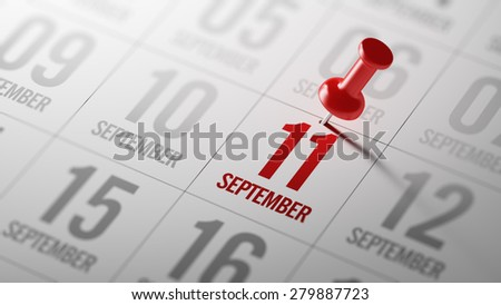 September 11 written on a calendar to remind you an important appointment.