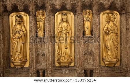 sepulcher carve - stock photo