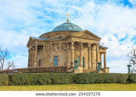 Sepulchral Chapel Rotenberg - Love never dies - stock photo