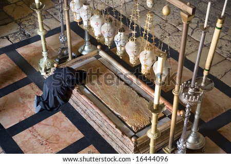 Sepulchre of Jesus Christ in the church of the holy sepulchre, Jerusalem