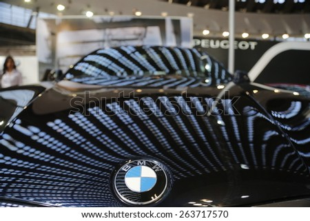 "Serbia, Belgrade - March 20, 2015: The ""52th International Belgrade car show"" presents BMW at the Belgrade car show on March 20, 2015 in Belgrade, Serbia."