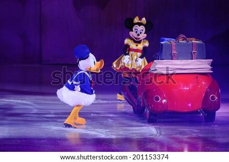 SERBIA, BELGRADE - NOVEMBER 1, 2013: Disney characters at Disney on Ice show / cartoon heroes - stock photo