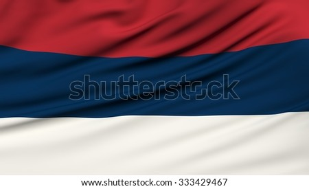 Serbia Flag. 3d illustration