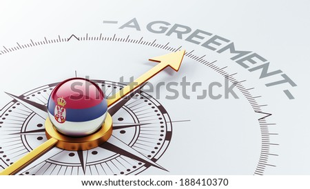 Serbia High Resolution Agreement Concept - stock photo