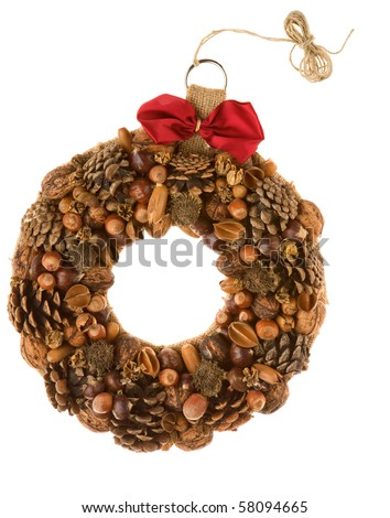serbian decoration wreath - stock photo