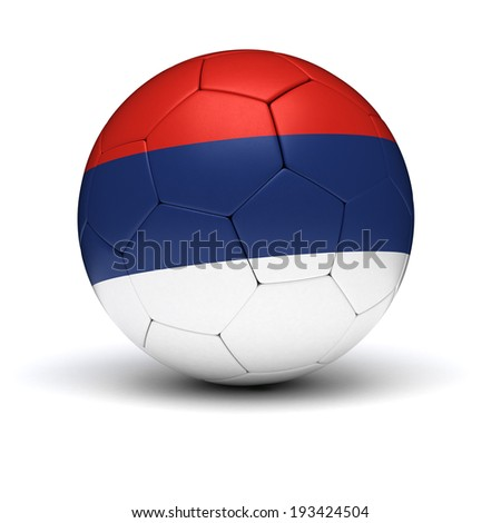 Serbian Football (isolated with clipping path) - stock photo