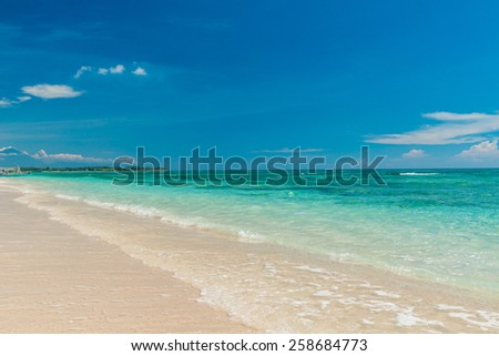 Serene tropical beach of Gili Trawangan, Indonesia