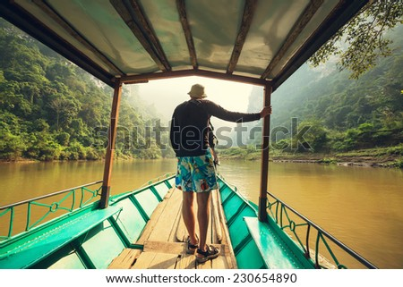 Serenity BaBe Lake in Vietnam - stock photo
