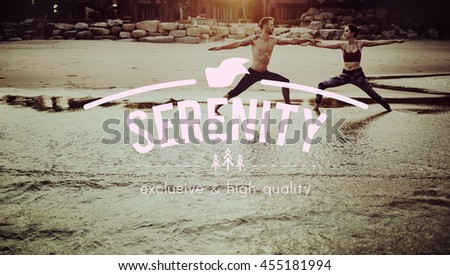 Serenity Calm Free Tranquility Peace Solitude Concept - stock photo