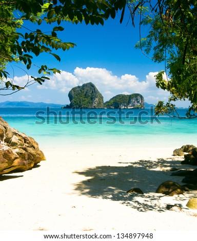 Serenity Shore From Inside - stock photo