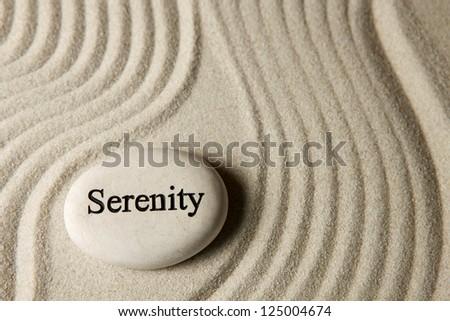 Serenity stone - stock photo
