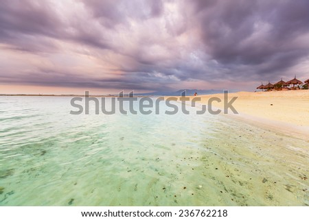 Serenity tropical beach - stock photo