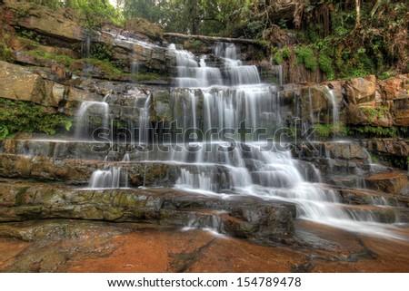 Seri Mahkota Endau Rompin Pahang waterfall,Malaysia  - stock photo