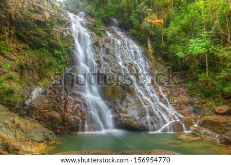 Seri Mahkota Endau Rompin Pahang waterfall, Malaysia  - stock photo