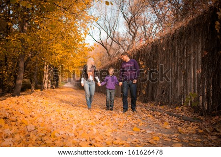series. Family walk in the park