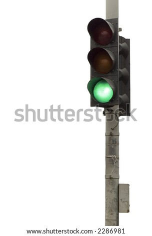 series: isolated on white: light signal for automobile