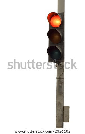 series: isolated on white: light signal for automobile - stock photo