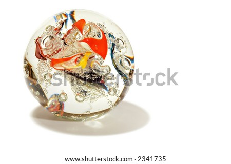 series object on white: isolated  abstraction sphere - stock photo