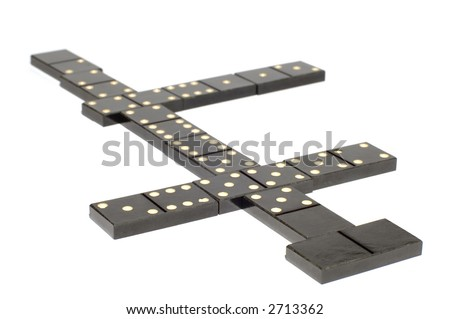 series object on white: isolated -dominoes - stock photo