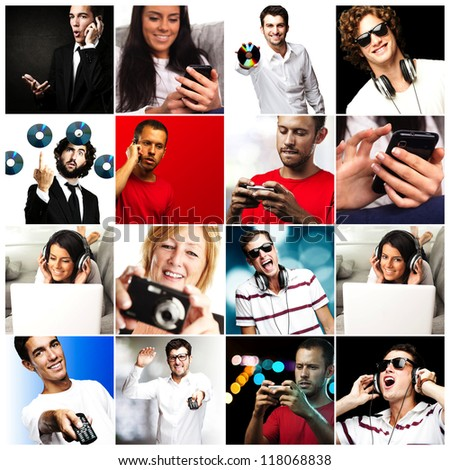 Series Of Different People - stock photo