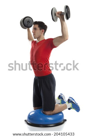 Series of kettlebell weight exercise sequence to promote strength and muscle tone