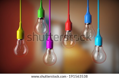 series of light bulbs hanging with bulb