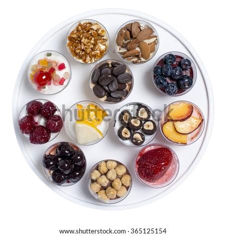 series of mini ice cream wrapped round - stock photo