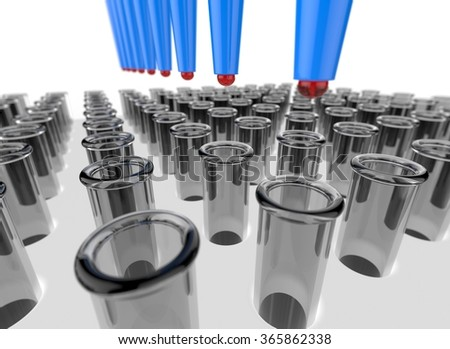 Series of test tubes in the laboratory