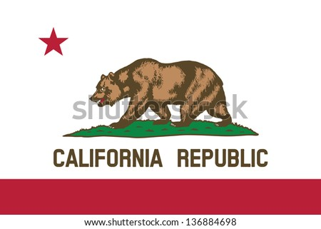 Series of the states flag in the US - California - stock photo