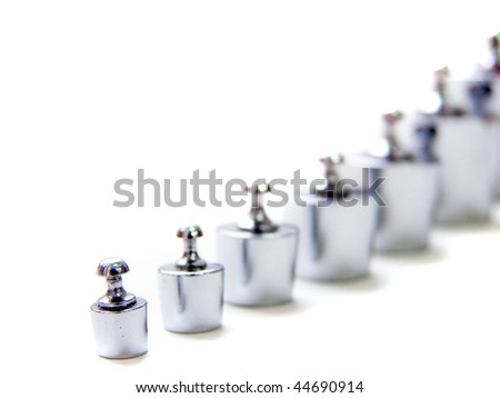 Series of weights - stock photo