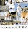 Series on Hajj and visiting Kaaba in Mecca - stock photo