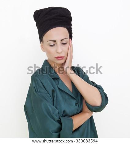 Serios woman - stock photo