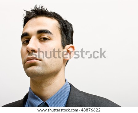 Serious businessman - stock photo