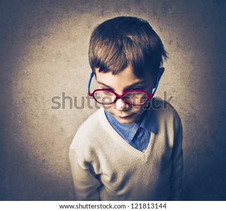 Serious child - stock photo
