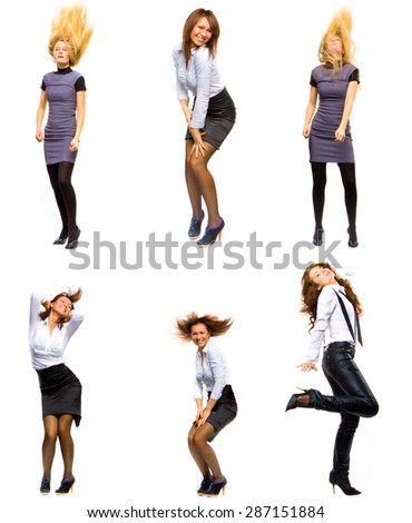 SERIOUS FUN Concept Isolated over White  - stock photo