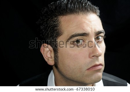 Serious handsome man - stock photo