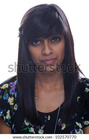 Serious indian teenage girl