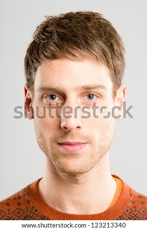 serious man portrait real people high definition grey background