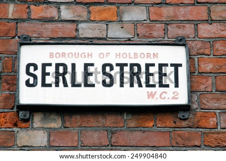 Serle Street sign in Borough of Holborn, Central London, United Kingdom - stock photo