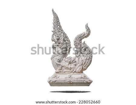 serpent in isolate on white. - stock photo