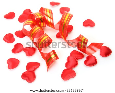 Serpentine and Scarlet heart - stock photo
