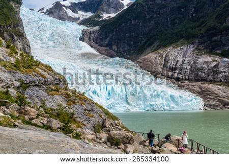 Serrano Glacier, O'higgins national park, Chile - stock photo