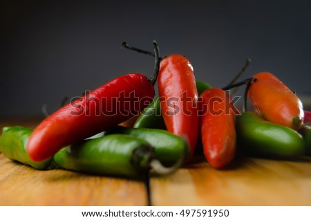 Serrano Peppers green and red