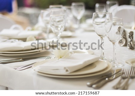 served banquet table